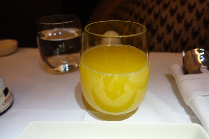 Orange Juice, Singapore Airlines Business Class Review