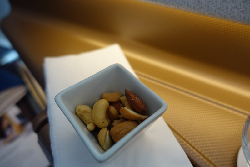 Pre-Dinner Nuts, Singapore Business Class Review