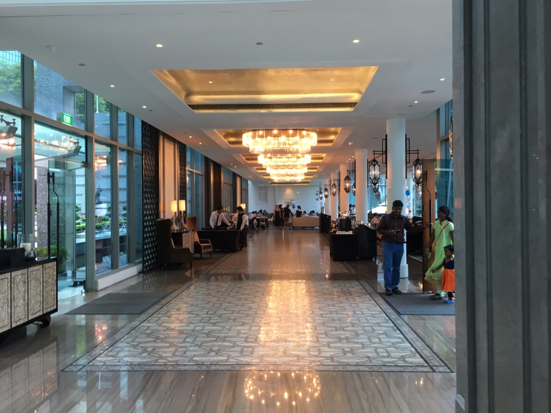 Lobby Hallway, The Fullerton Bay Hotel Singapore Review