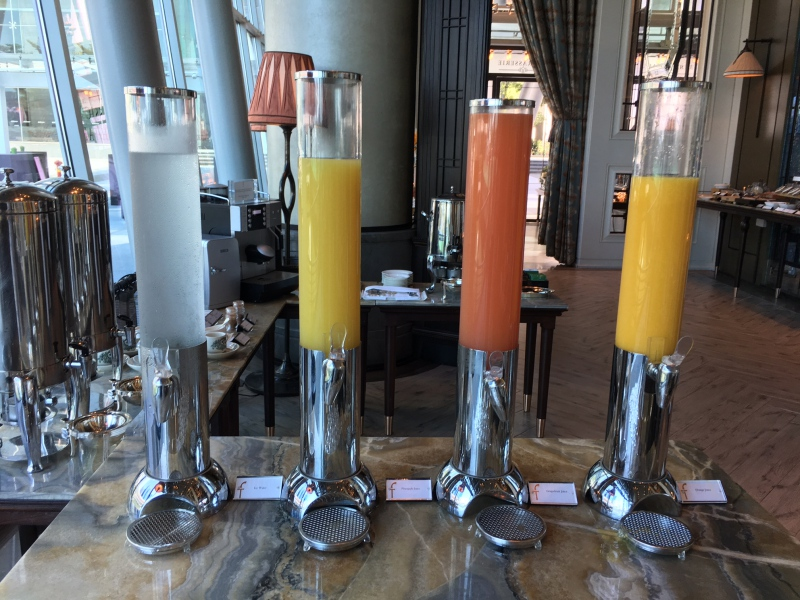 Fruit Juices, The Fullerton Bay Singapore Breakfast Buffet