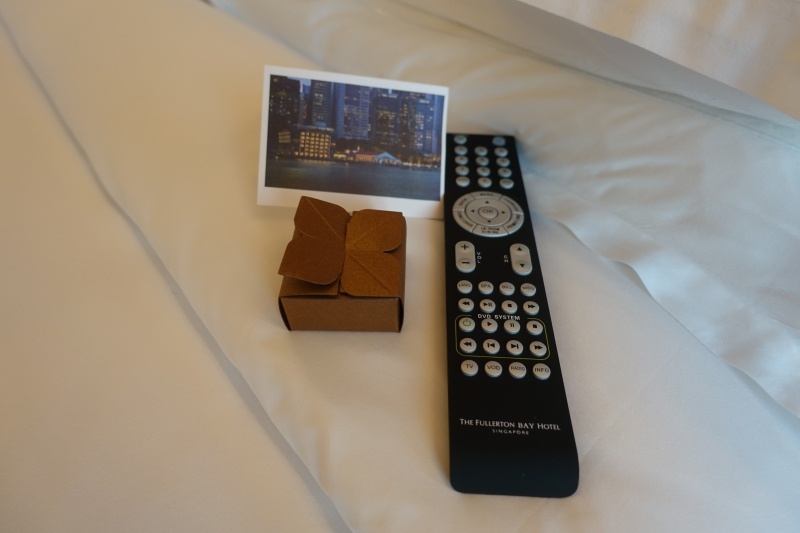 Chocolate for Turndown, The Fullerton Bay Singapore Review