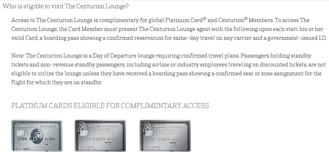 AMEX Centurion Lounge Restricts Access to Centurion and Platinum Card Members