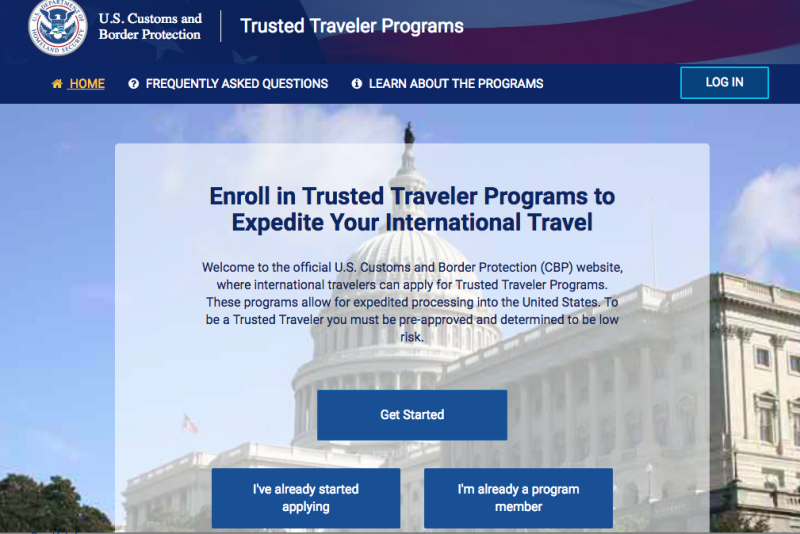 New Global Entry Web Site: Create a New Login.gov Account