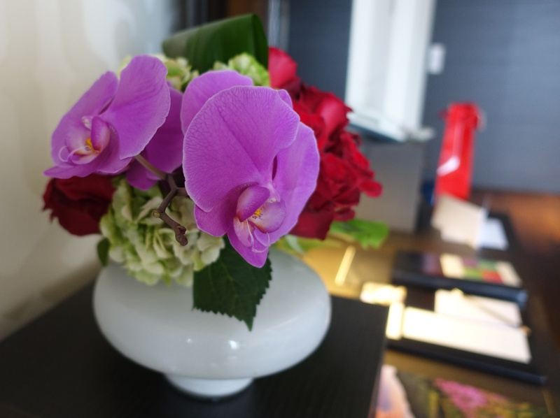Bouquet on Desk, Lausanne Palace & Spa Review