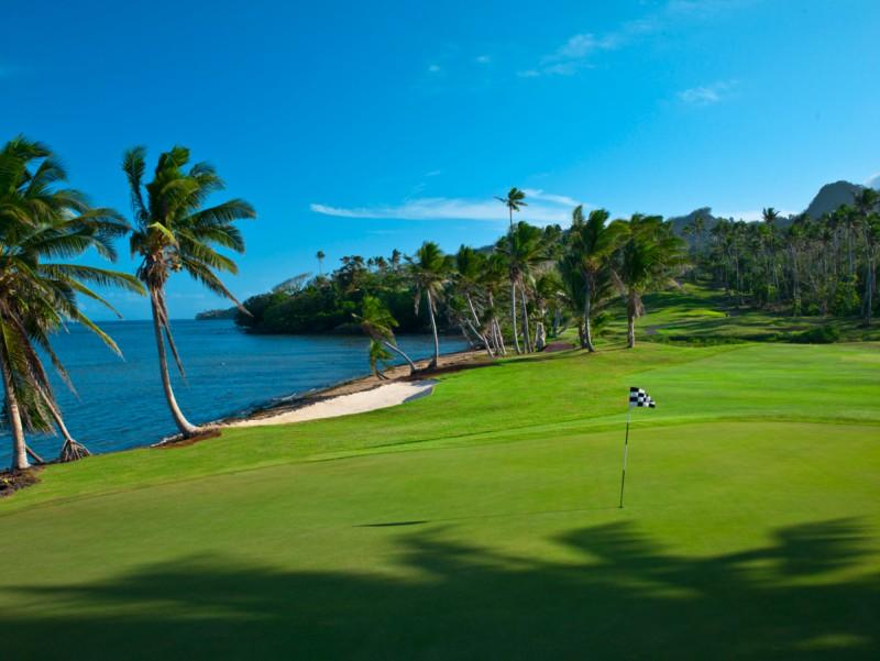 Golfing at Laucala