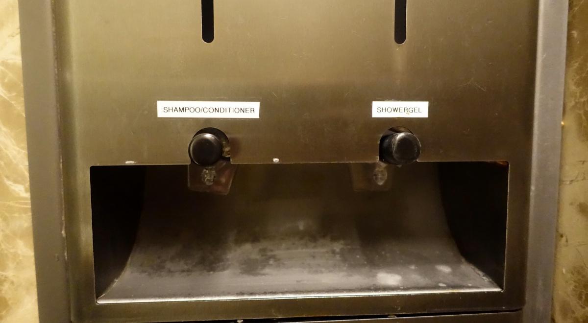 Shampoo Dispenser, Singapore SilverKris Business Class Lounge Review