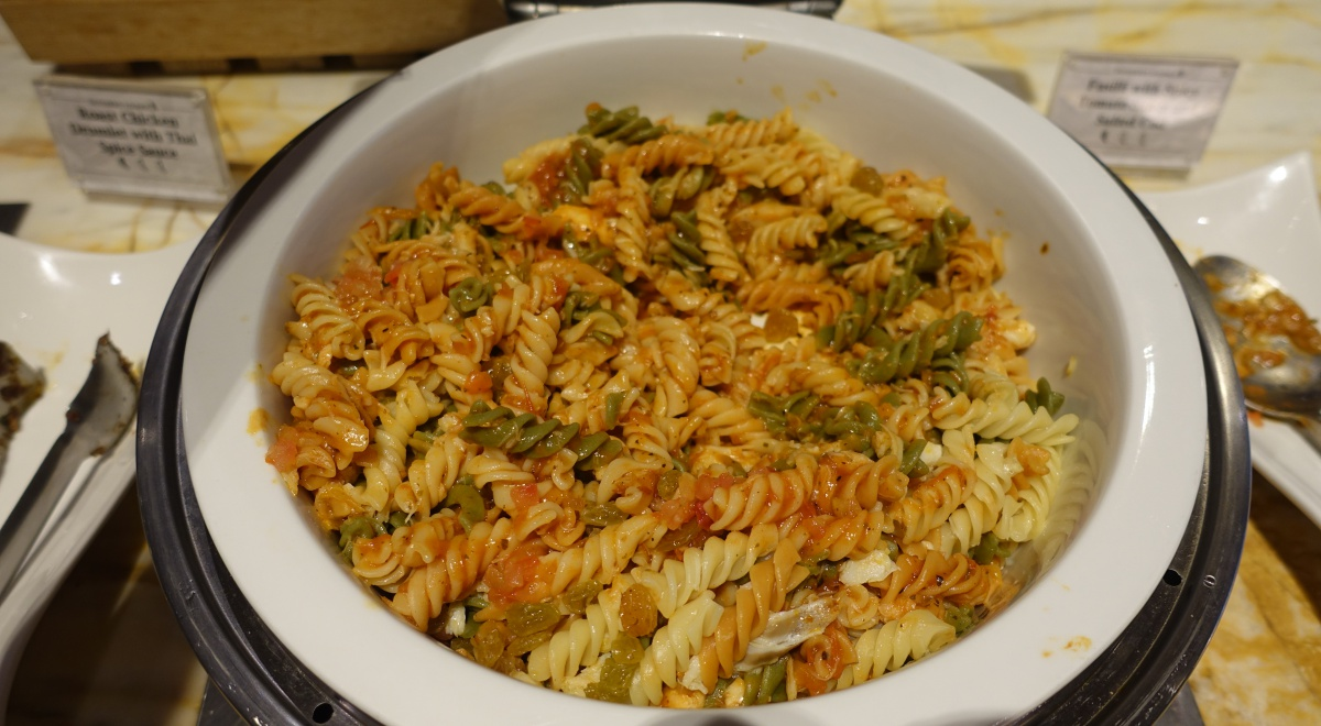 Fusilli with Spicy Tomato Sauce and Salted Cod