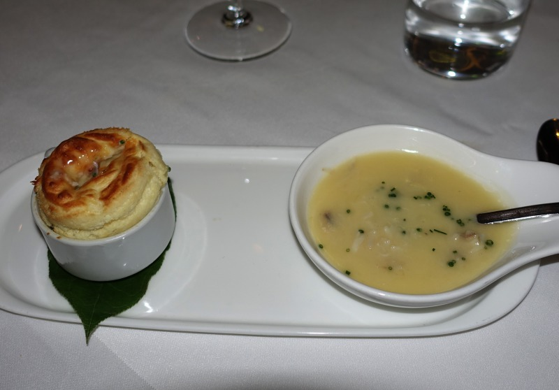 Souffle with Dungeness Crab and Uni Fondue, The Plumed Horse Review