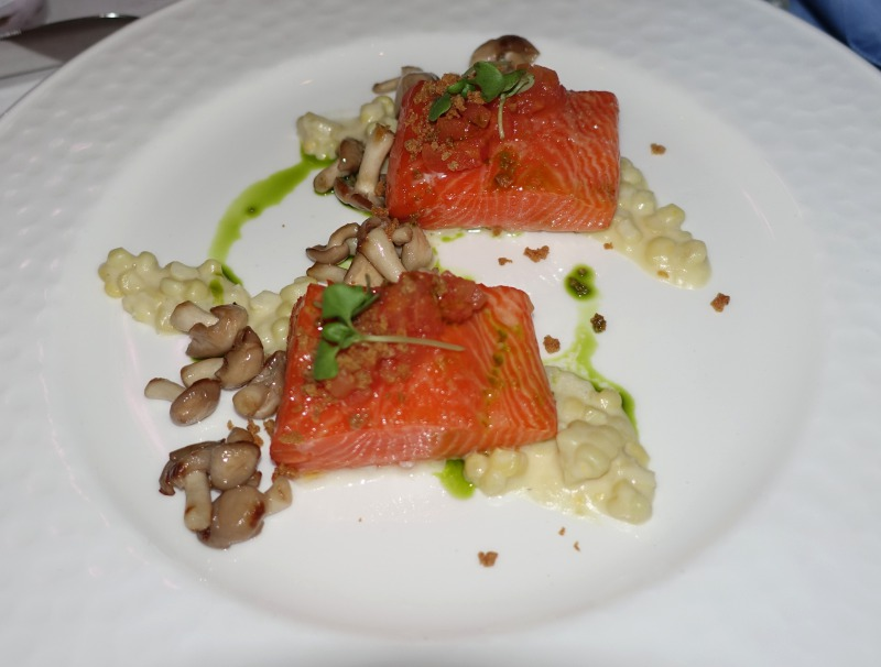 Slow Cooked King Salmon, The Plumed Horse Review