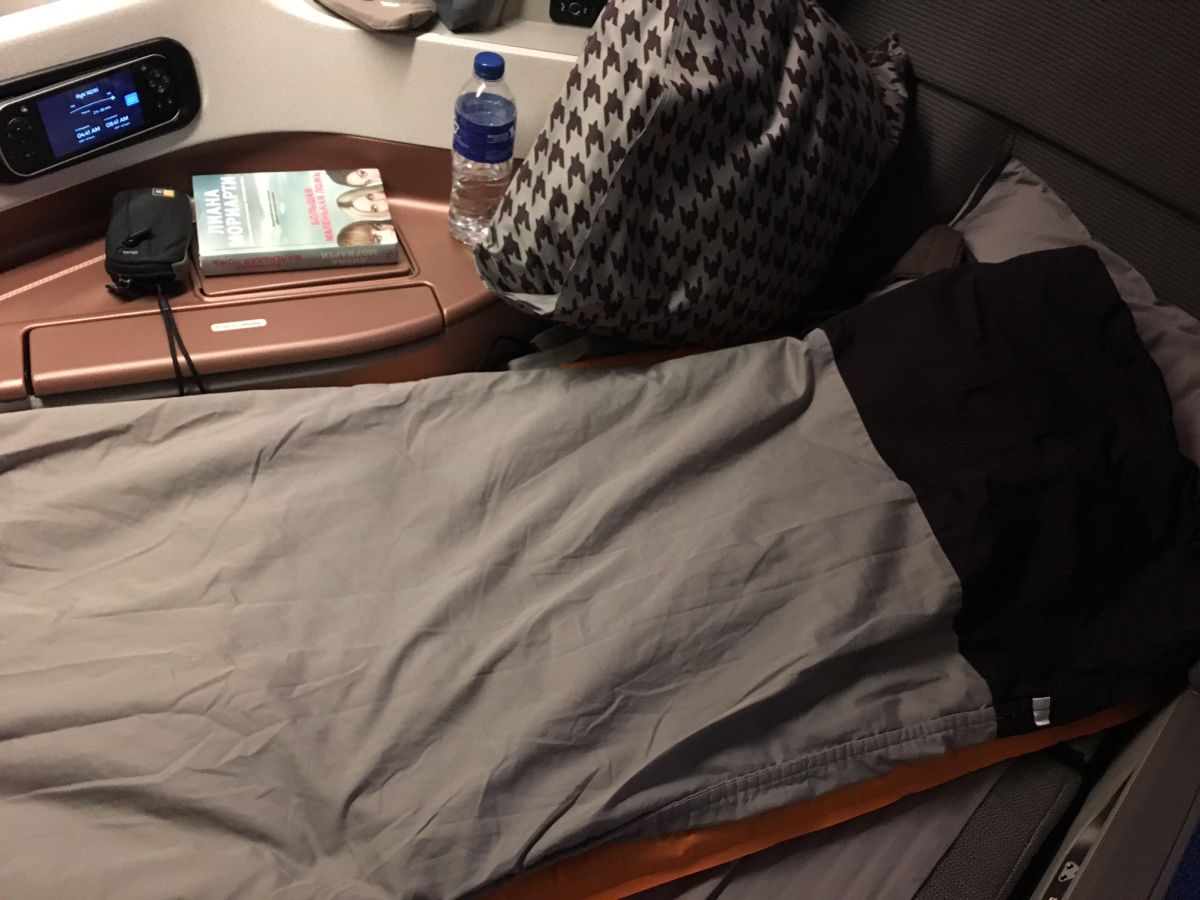 Singapore Business Class Bed: Too Uncomfortable