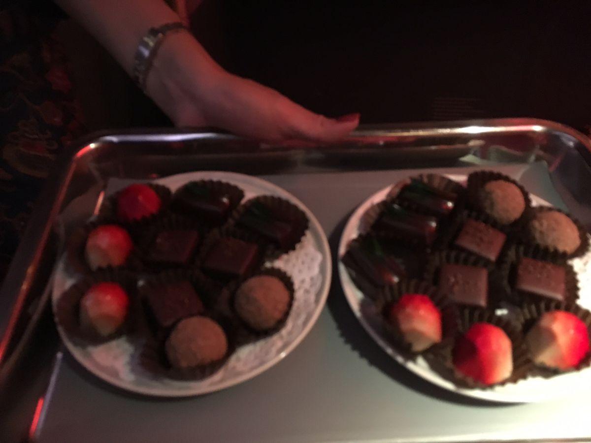 Chocolates, Singapore Business Class Review