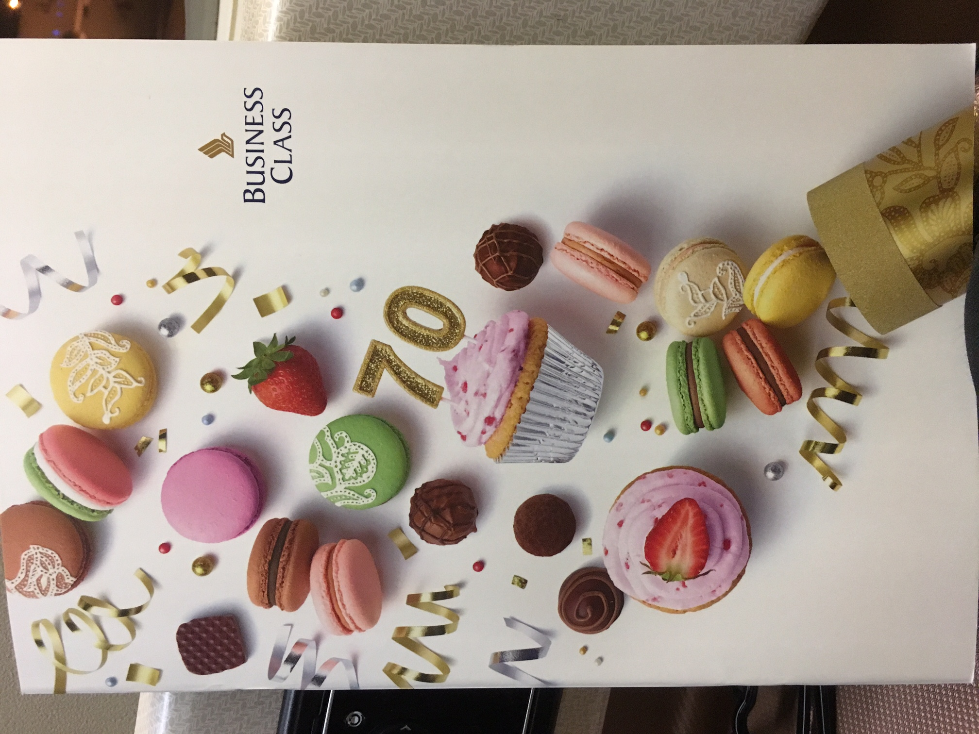 Singapore Airlines 70th Anniversary Menu Cover
