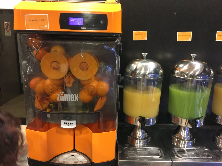 Fresh Squeezed Orange Juice, Novotel Auckland Airport