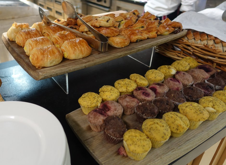 Pastries and Muffins, Novotel Auckland Airport Breakfast Buffet