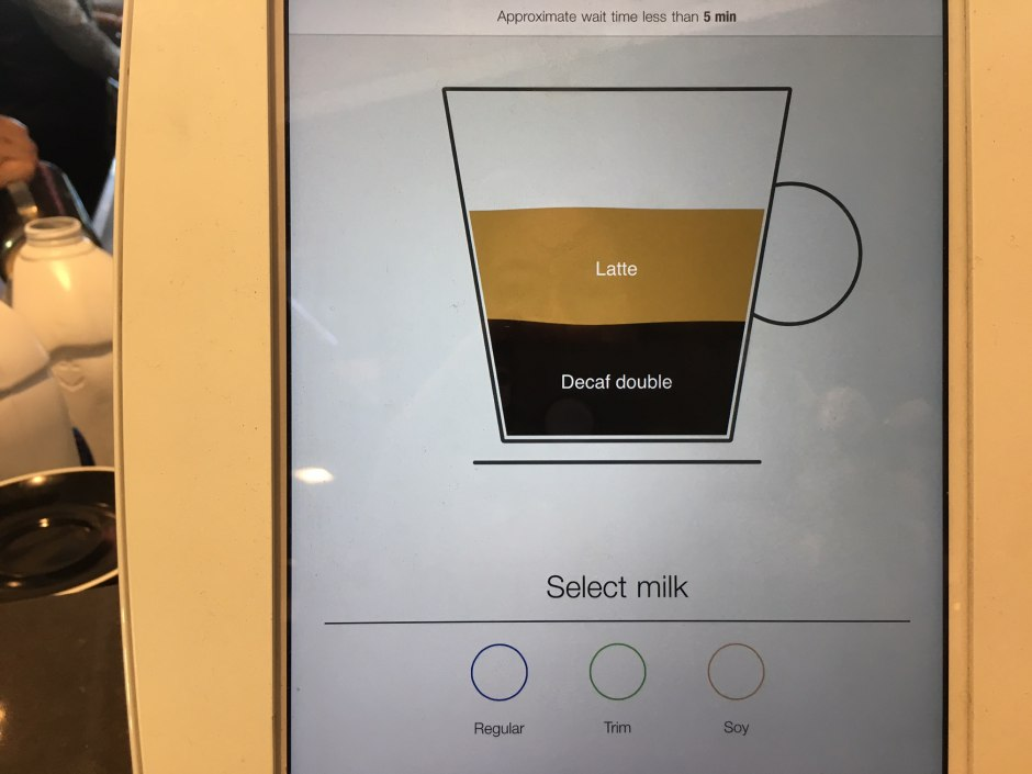 Order Coffee Drinks by Touchscreen