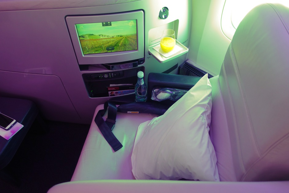 Air New Zealand Business Premier Seat Review