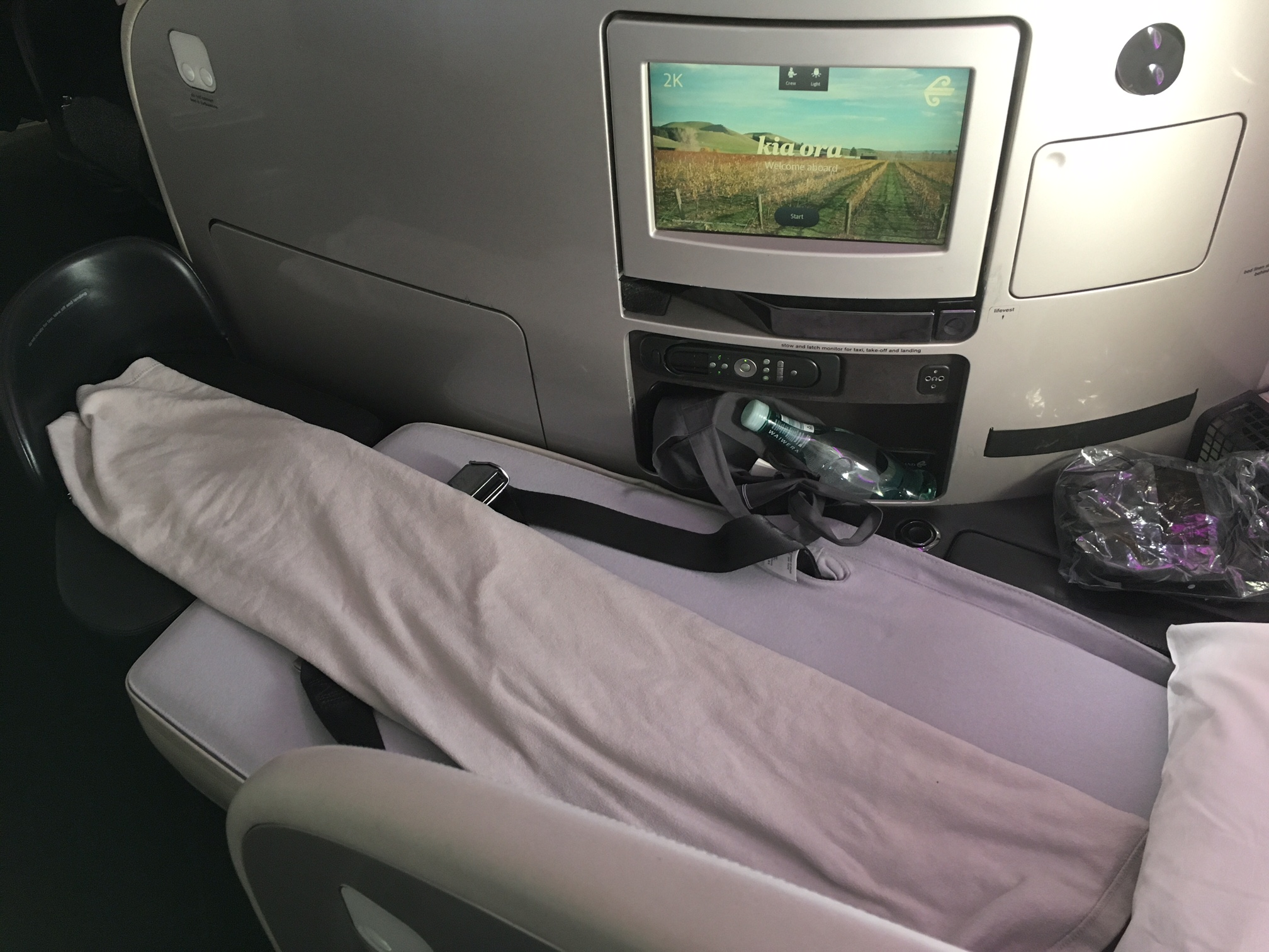 Air New Zealand Business Class Flat Bed
