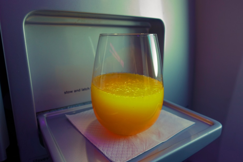 Pre-Flight Drink, Air New Zealand Business Class Review