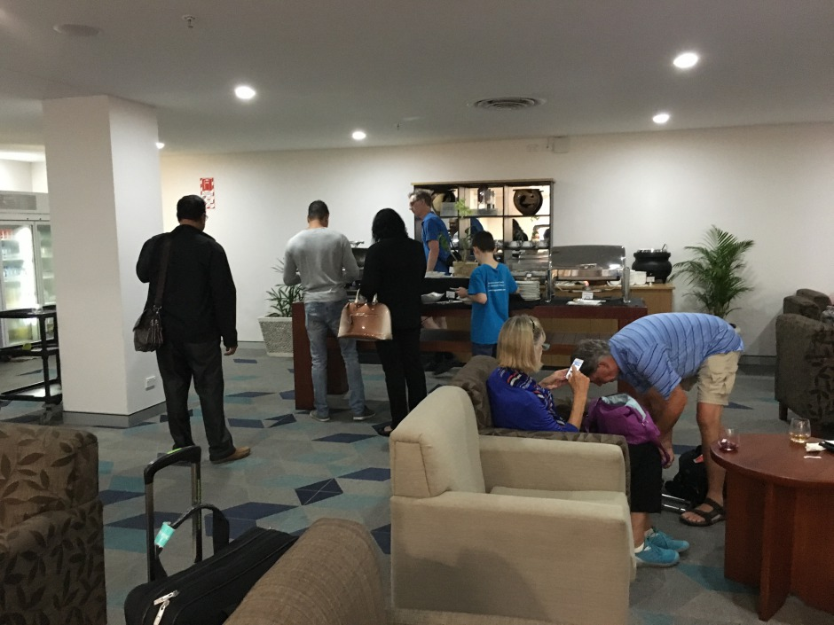 Buffet at Fiji Airways Lounge, Nadi Airport Review