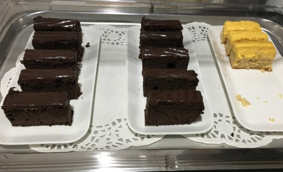 Chocolate Cake and Yellow Cake, Fiji Airways Lounge, Nadi