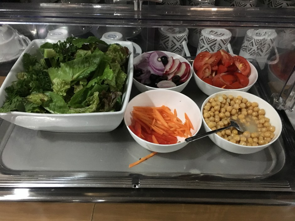 Salad, Fiji Airways Lounge Nadi Review
