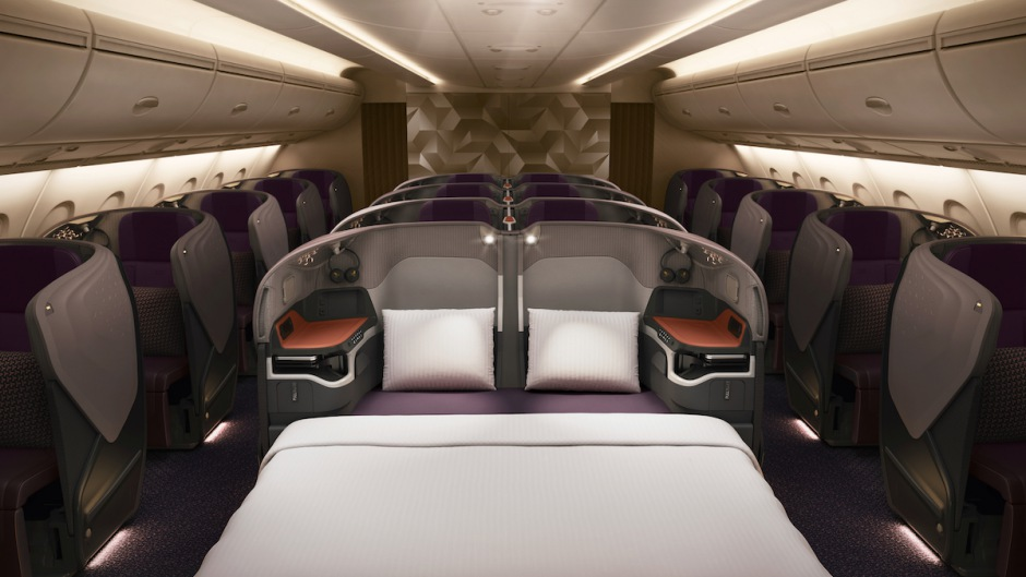 New Singapore Business Class Double Bed, A380