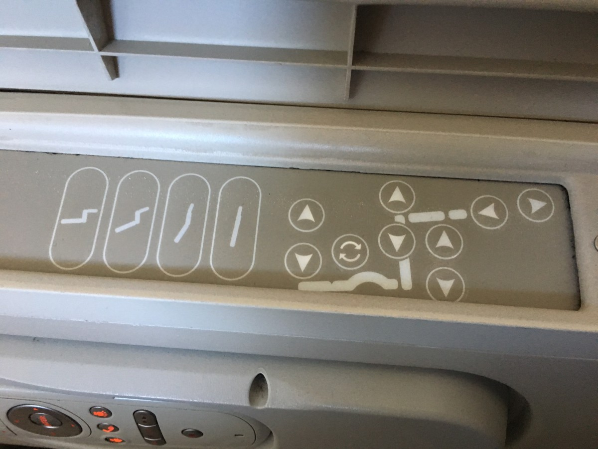 Fiji Airways Business Class Seat Controls