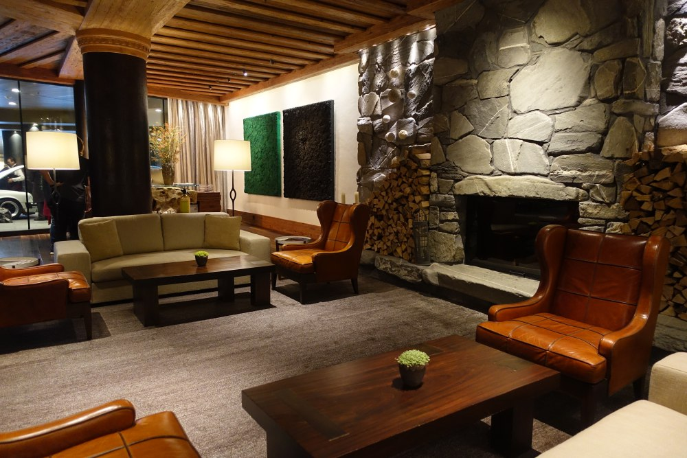 Lobby Fireplace, The Alpina Gstaad