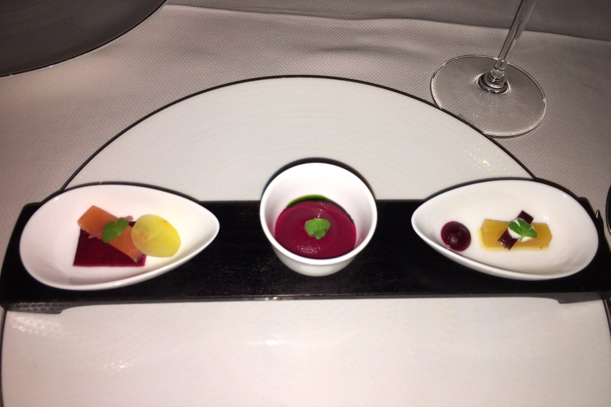 Beet Amuse Bouche Trio, Daniel NYC Review