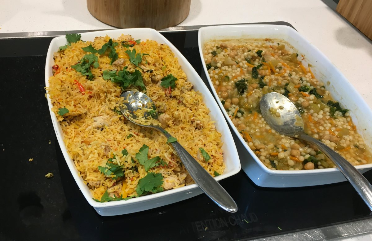 Chicken and Rice, Orzo