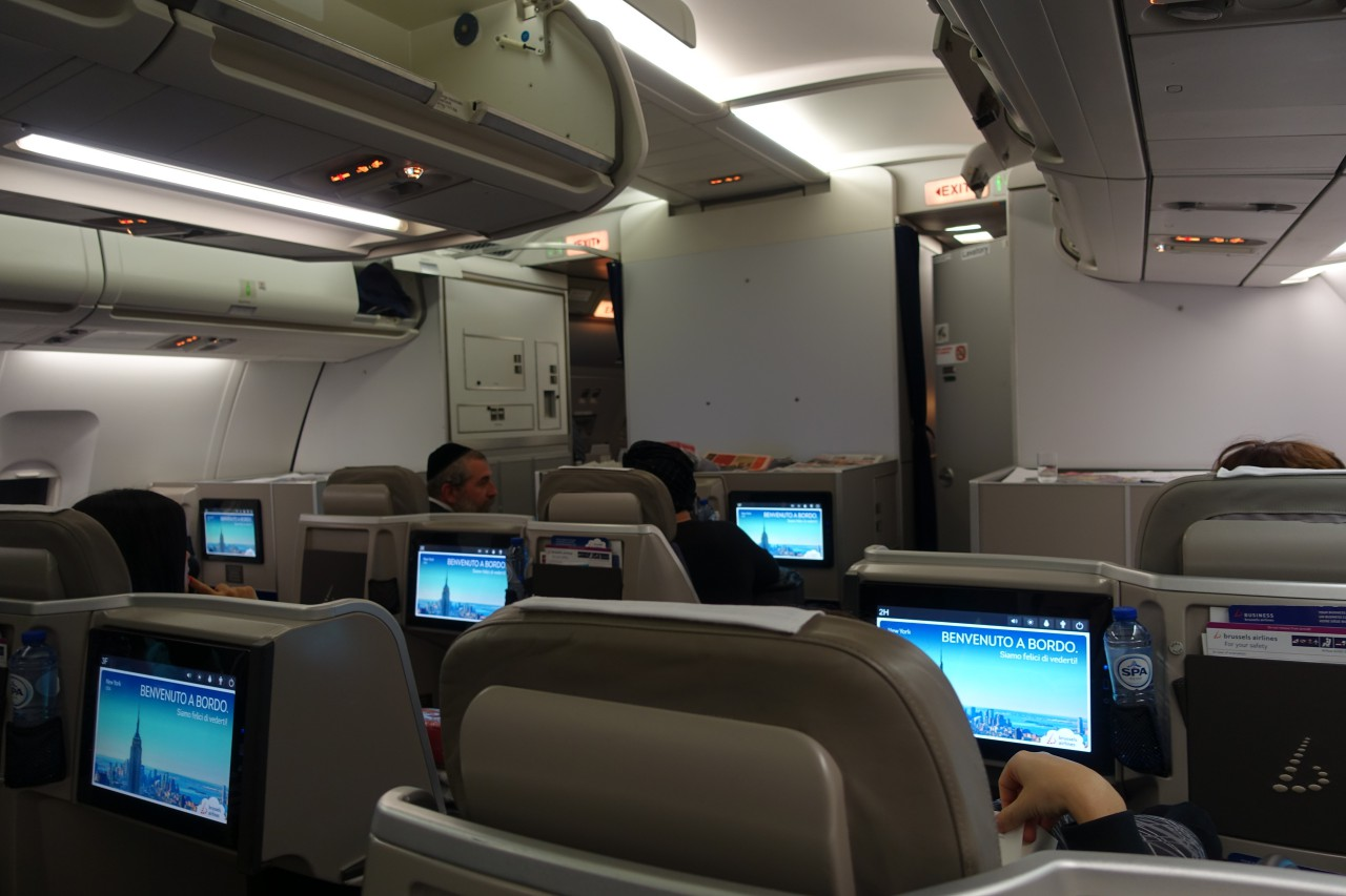 Brussels Airlines Business Class Cabin