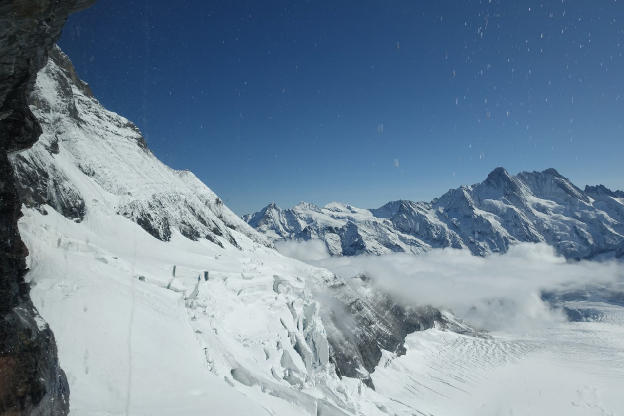 View from Train to Jungfraujoch