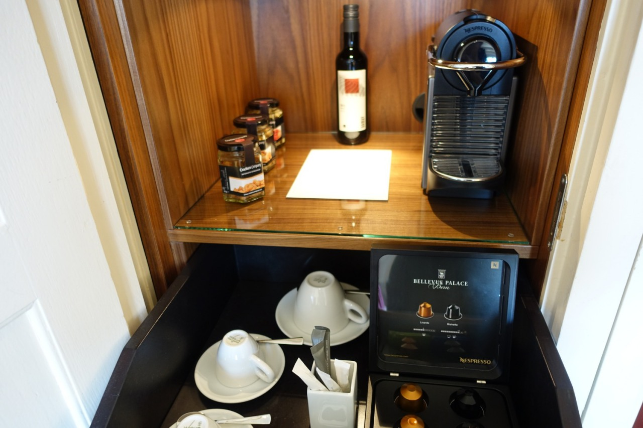 Nespresso Machine, Bellevue Palace Hotel, Bern Switzerland