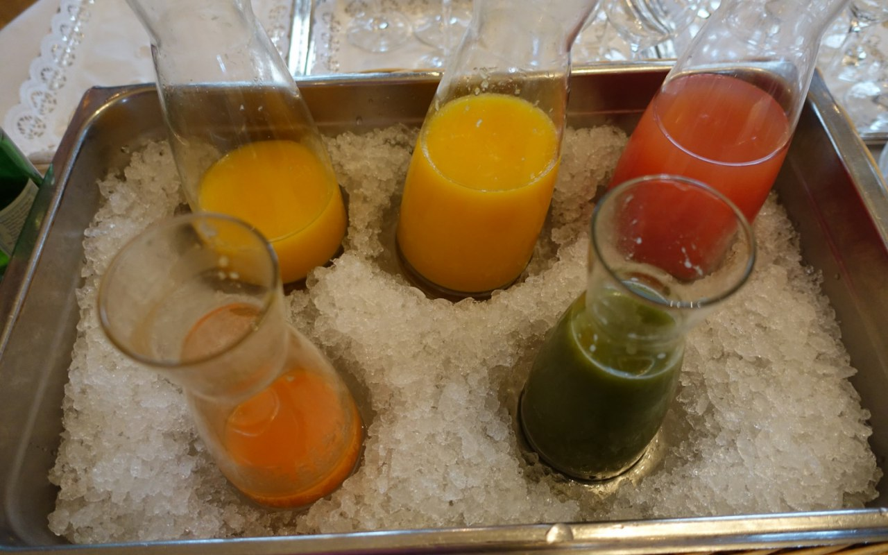 Breakfast Juices, Bellevue Palace Review
