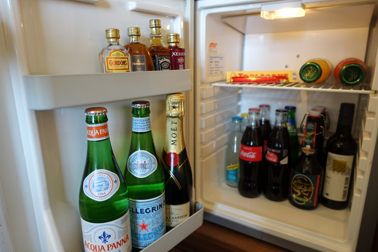 Mini Bar, Bellevue Palace Hotel Review, Bern, Switzerland
