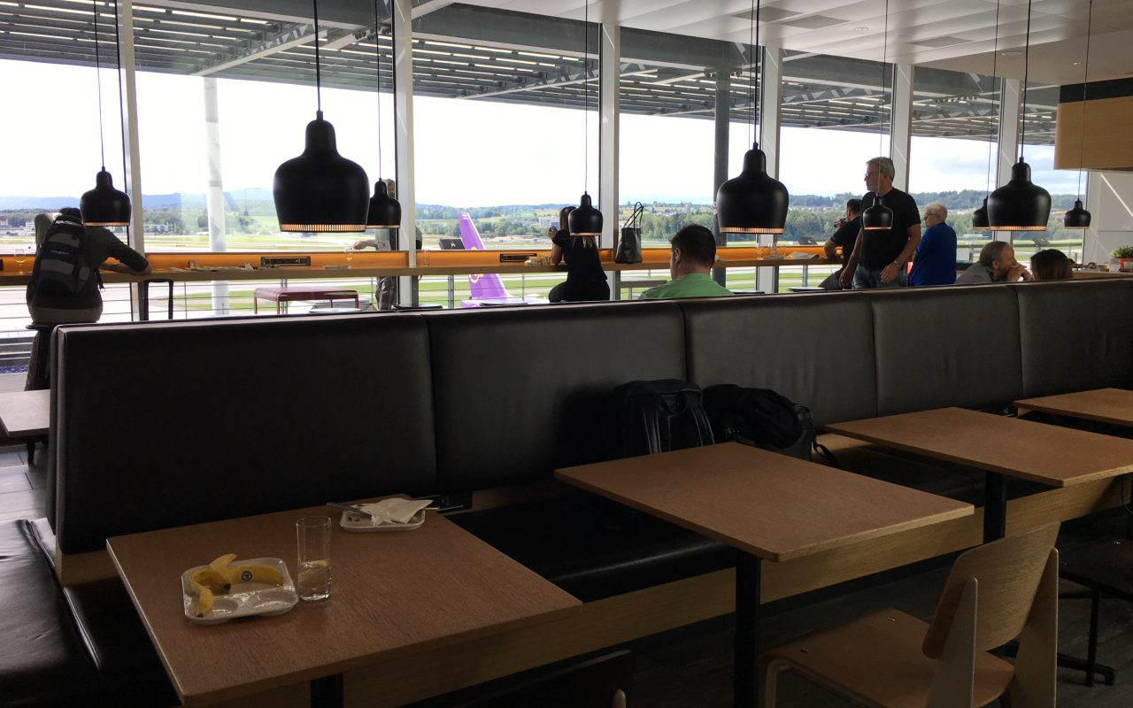 Dining Area Seating, Swiss Business Class Lounge Zurich