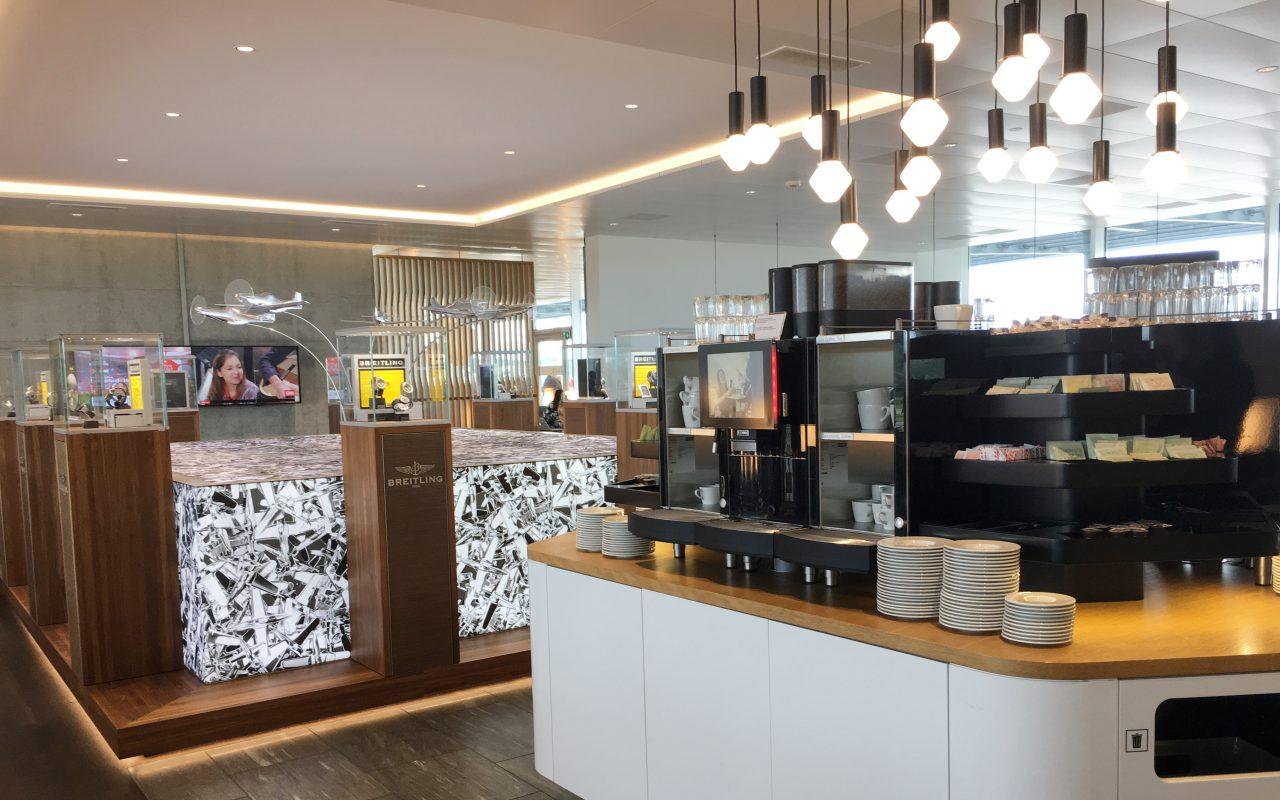 Espresso Machine, Swiss Business Class Lounge Review