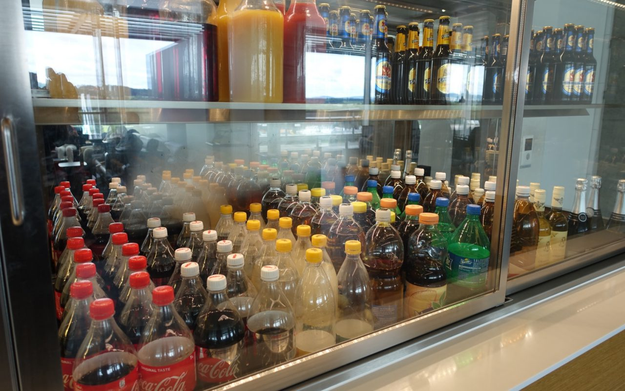 Soft Drinks, Swiss Business Class Lounge Review