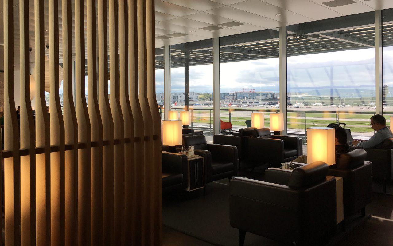 Swiss Business Class Lounge, Zurich Review