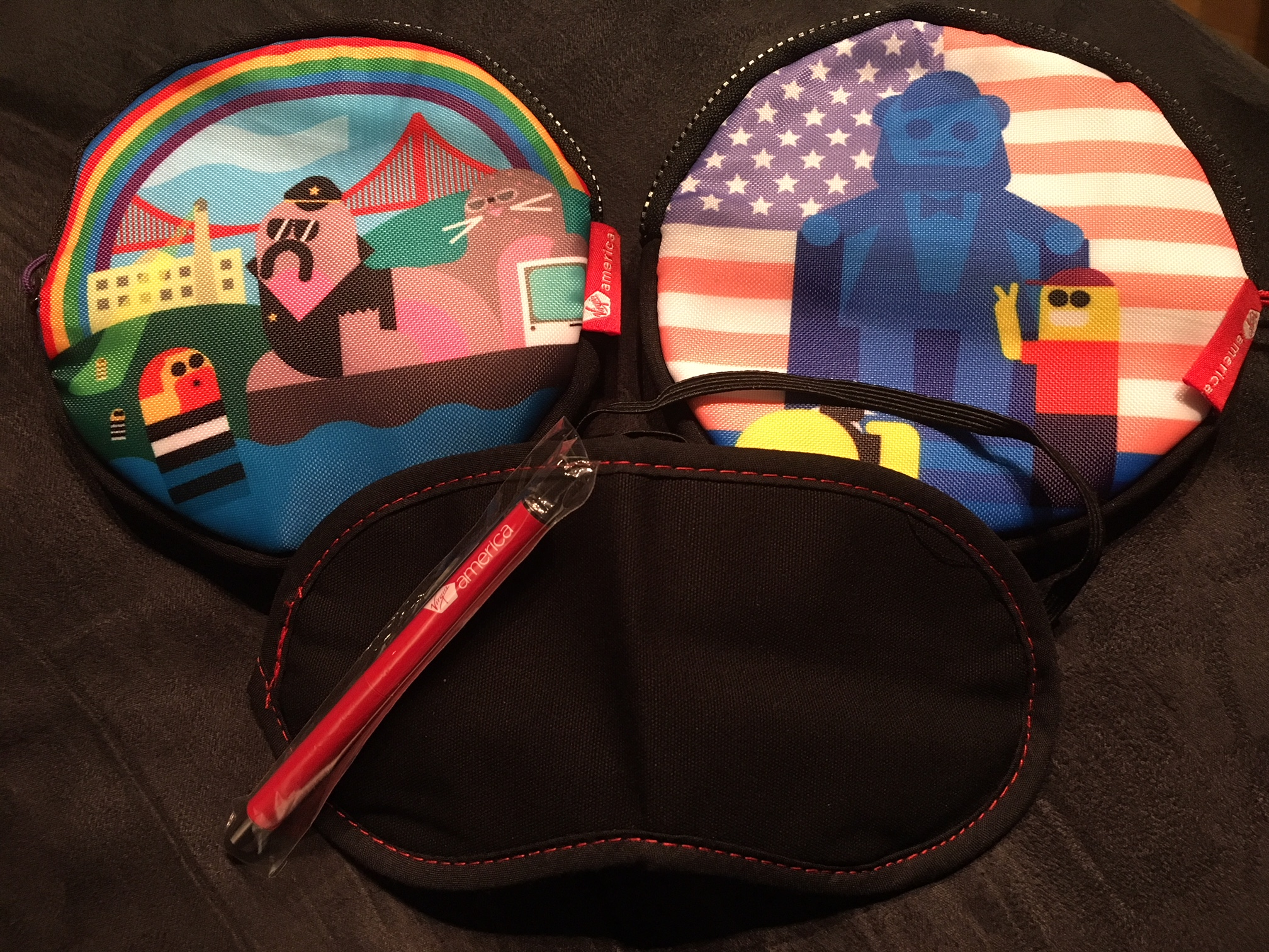 Virgin America First Class Amenity Kit