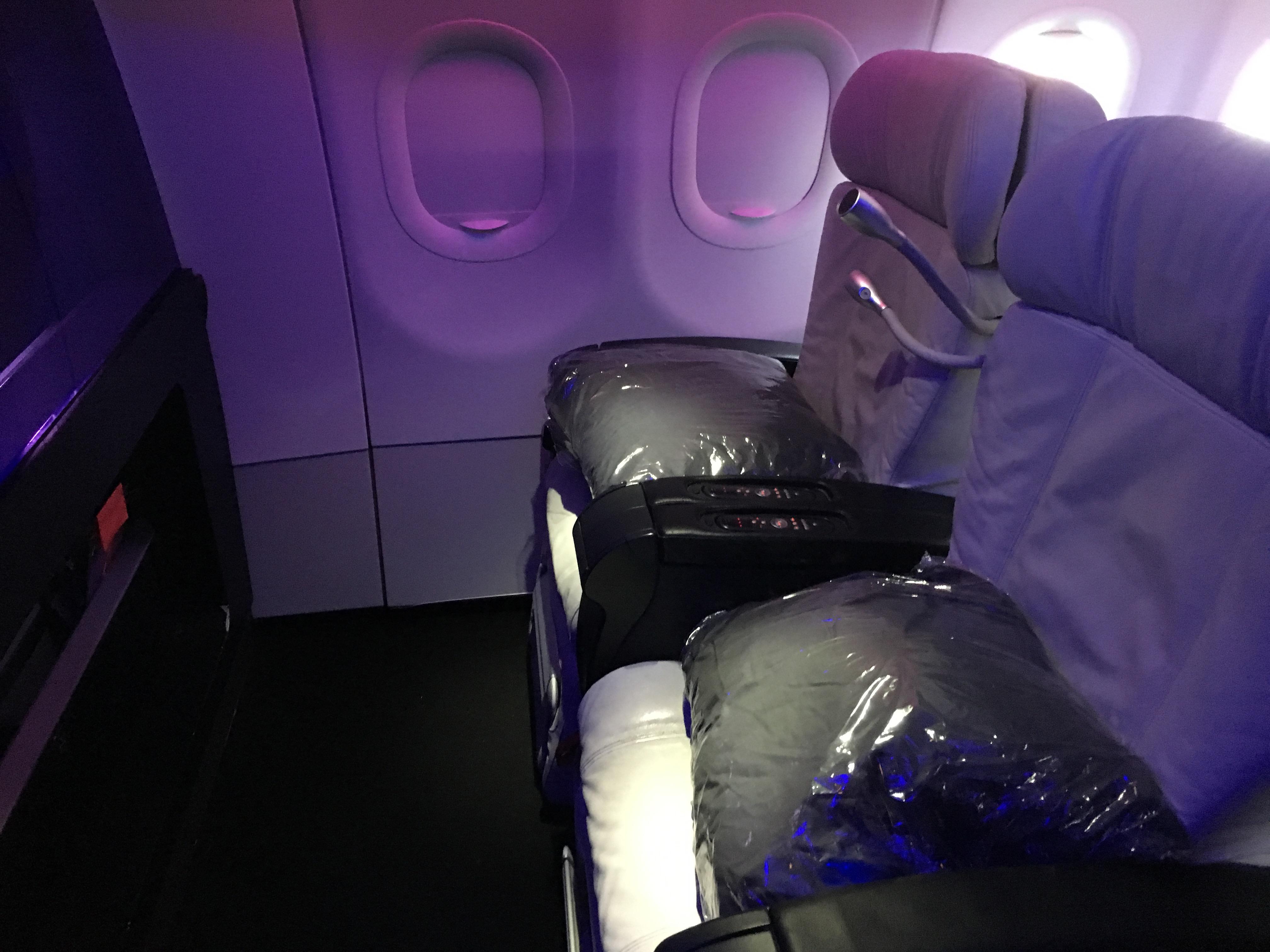 Virgin America A320 First Class Cabin