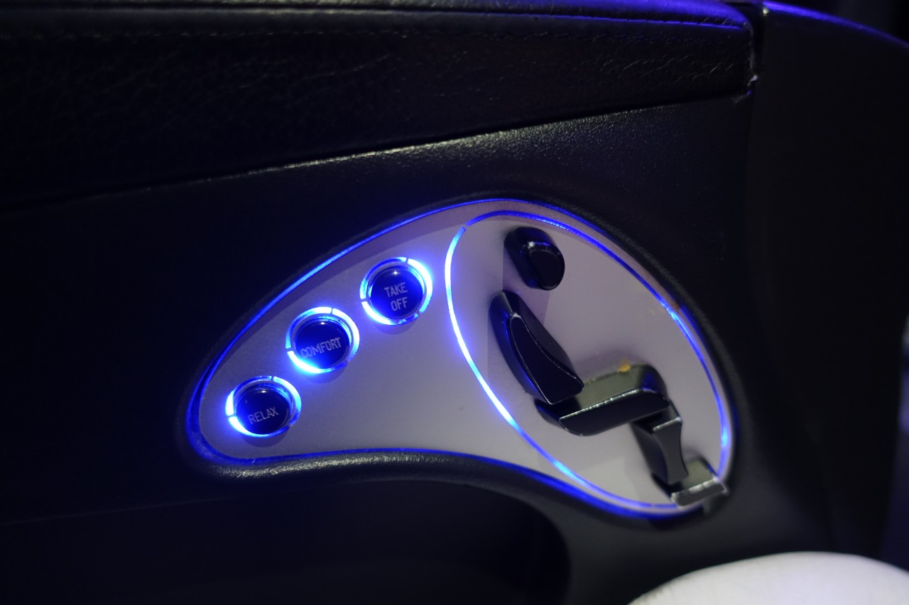 Virgin America First Class Seat Controls