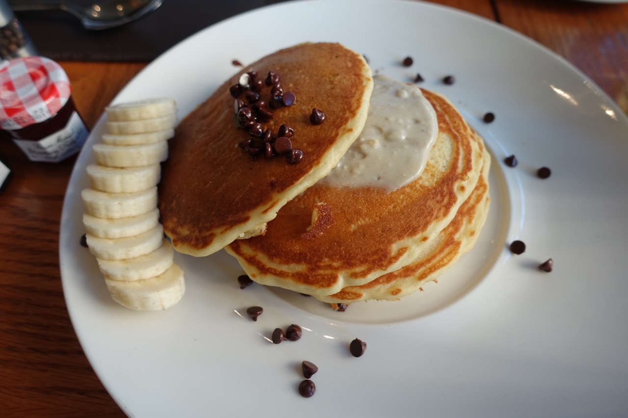 Banana Chocolate Chip Pancakes, Quattro