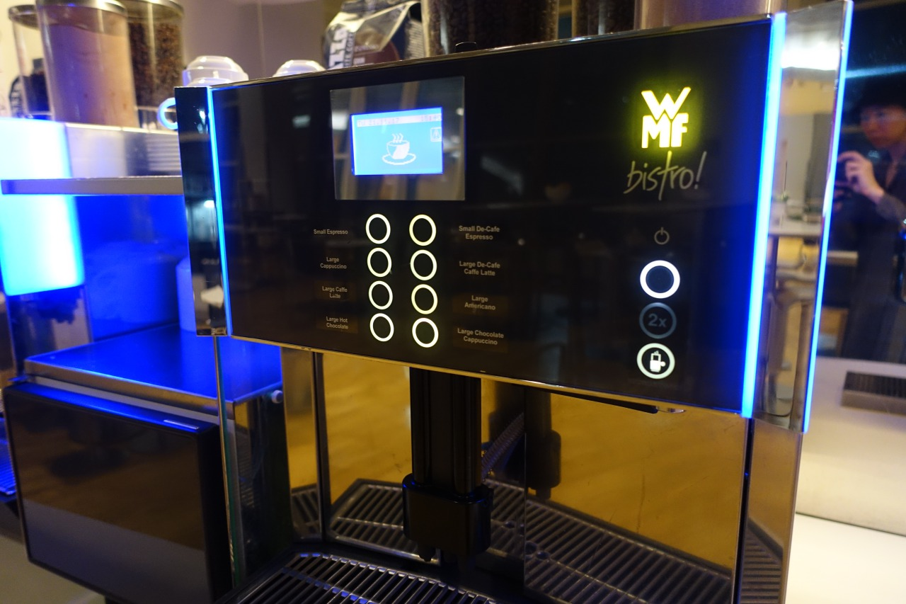 Coffee Machine, JFK Lufthansa Business Lounge Review
