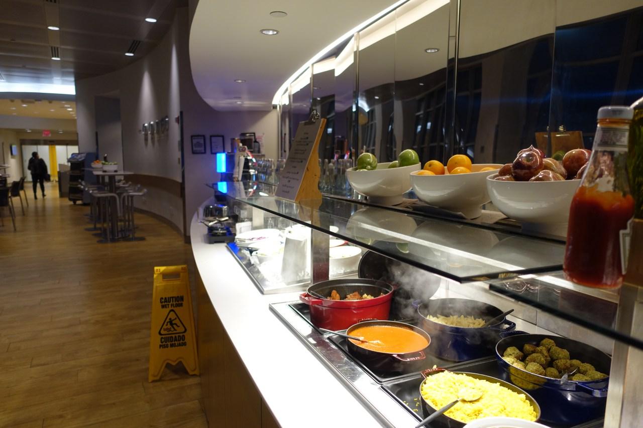 JFK Lufthansa Business Lounge Buffet
