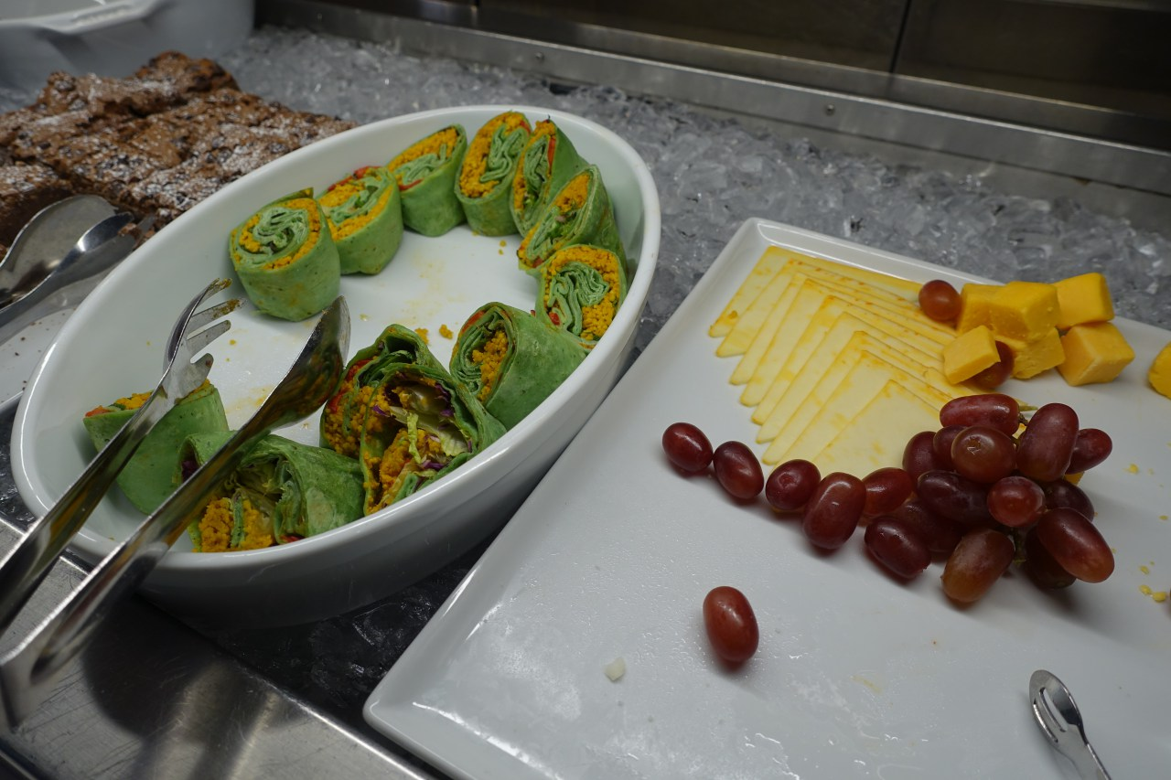 Vegetable Wraps and Cheese, JFK Lufthansa Business Lounge Review