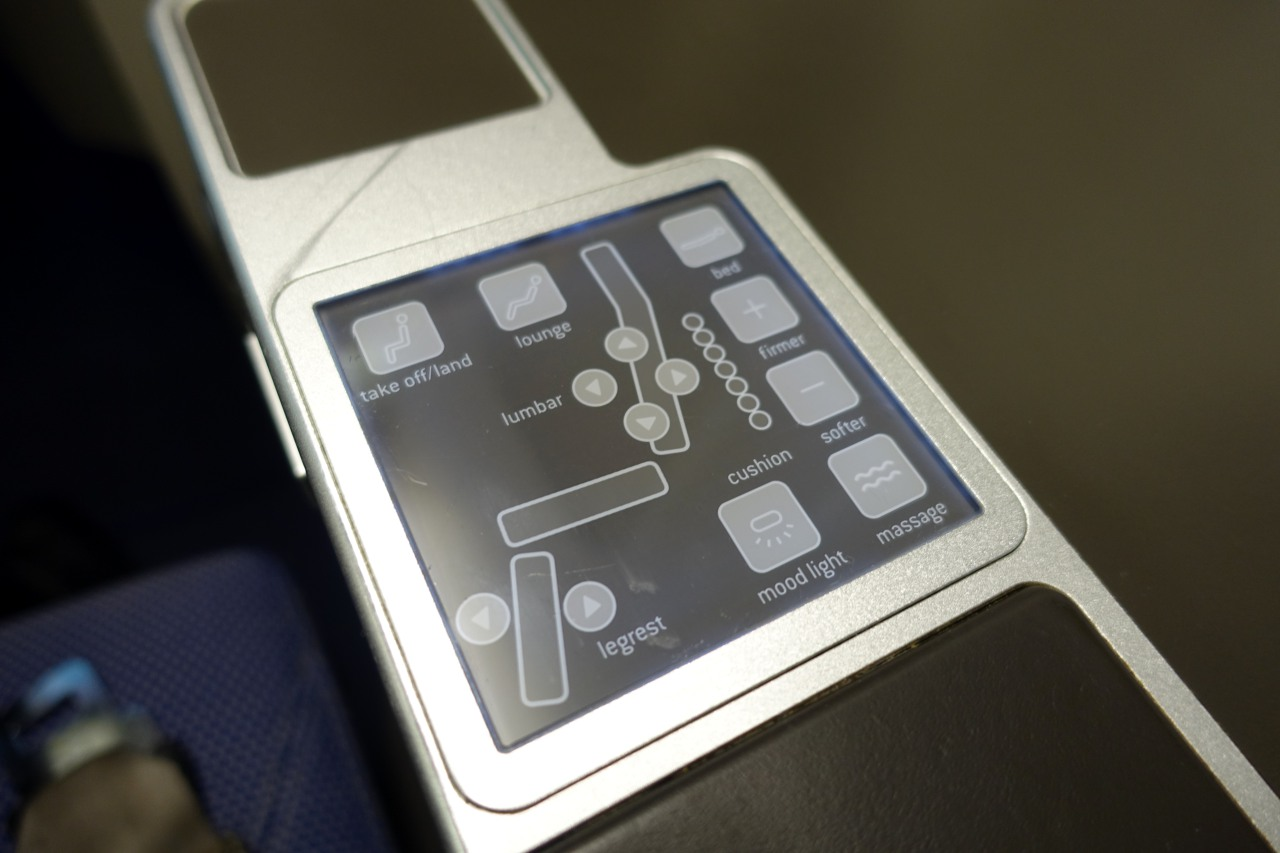 Brussels Business Class Seat Controls