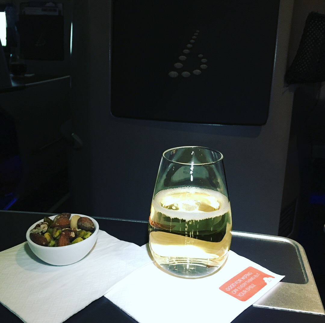 Champagne, Brussels Airlines Business Class Review