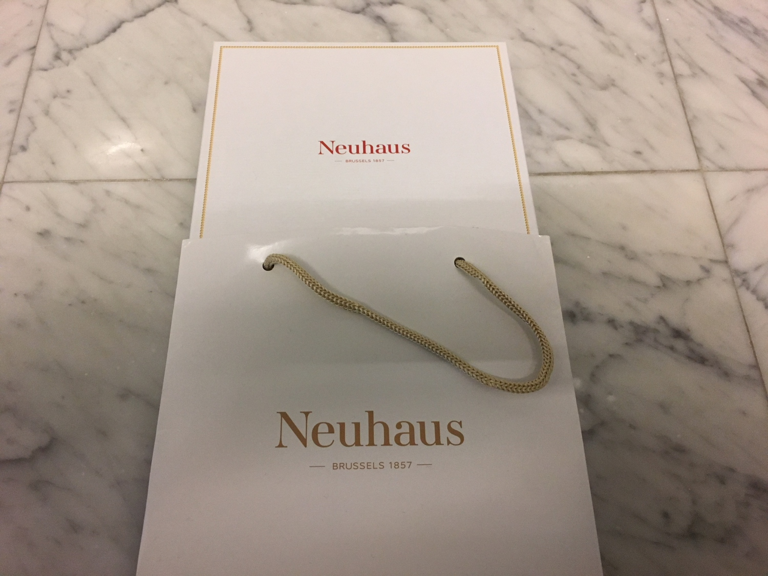 Neuhaus Chocolates as Farewell Gift, Brussels Business Class