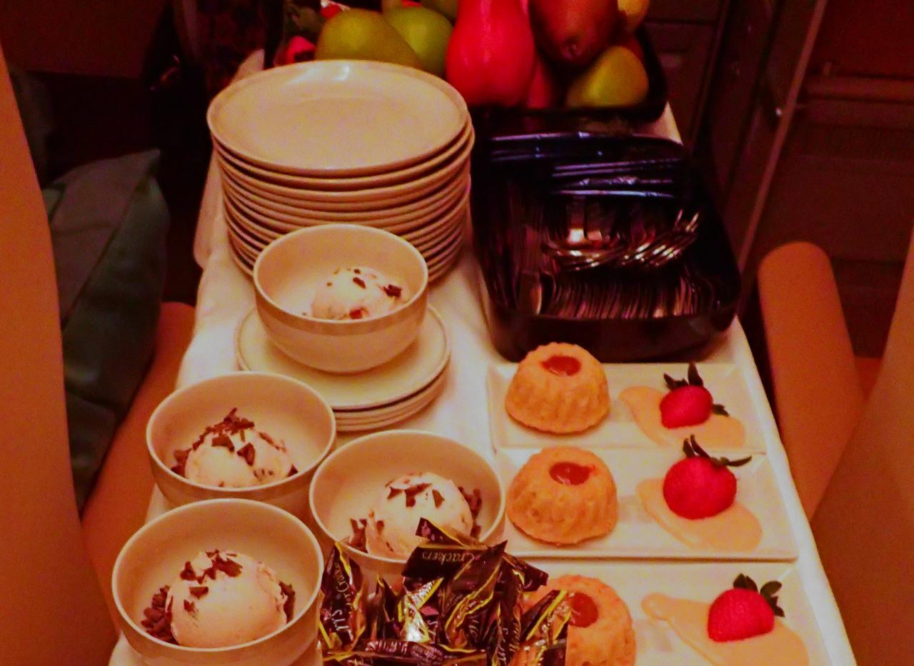 Dessert, Singapore A380 Business Class Review